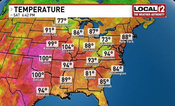 Current Temperature Us Map - Current weather map of us