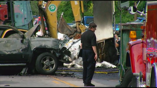 1 dead in Greendale after pick-up catches fire following crash with