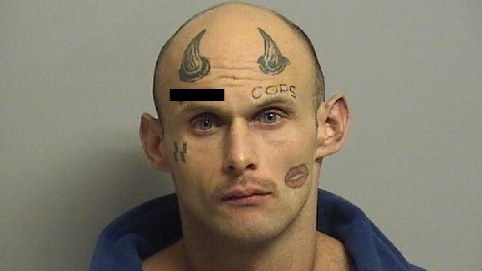 Man with horns, obscene forehead tattoos arrested in Tulsa | WKRC