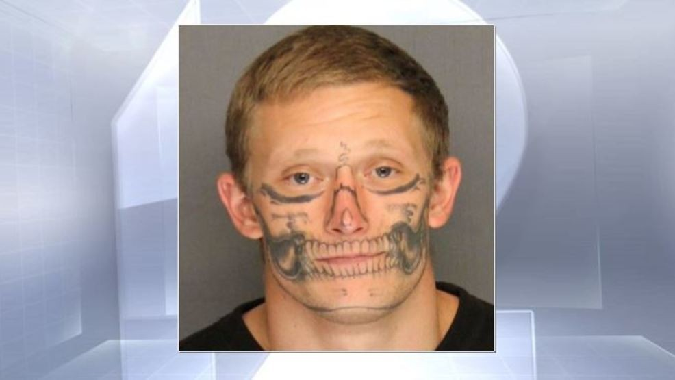 2bbea5c1528f6 Man with skull tattoo on his face walks away from jail work crew | WKRC